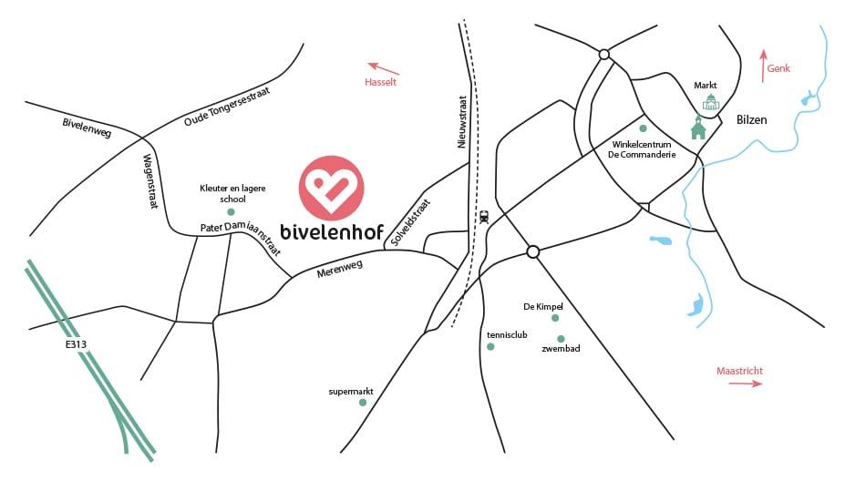 Ligging Bivelenhof